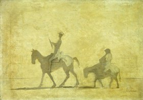 Honoré Daumier: Don Quichote und Sancho Pansa.