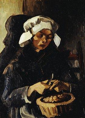 Vincent van Gogh: Kartoffelschälerin in Nuenen