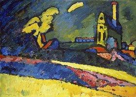 Wassily Kandinsky: Murnau, Landschaft mit Kirche I