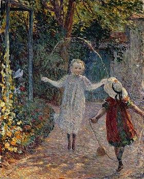 Henri Lebasque: Kinder beim Seilspringen im Garten