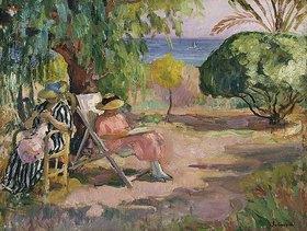 Henri Lebasque: Sommertag in einem Garten am Meer