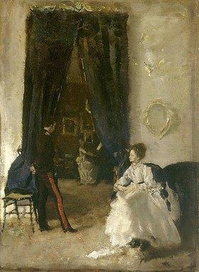 Albert von Keller: Musikalische Unterhaltung. Anfang 1870-er Jahre