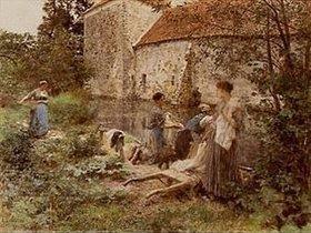 Leon Augustin Lhermitte: Die Wäscherinnen von Ru Chailly