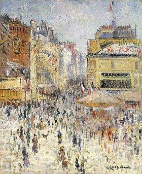 Gustave Loiseau: Der 14. Juli auf der Rue de Clignancourt in Paris
