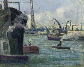 Maximilien Luce: Im Hafen von Rouen