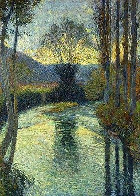 Henri Martin: Abendliche Flusslandschaft