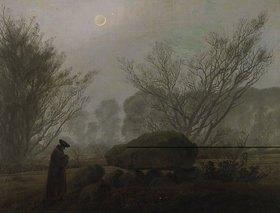 Caspar David Friedrich: Spaziergang i.d.Abenddämmerung (Mann in Betrachtung eines Hühnengrabes)
