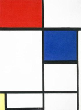 Piet Mondrian: Komposition mit blau, rot und gelb