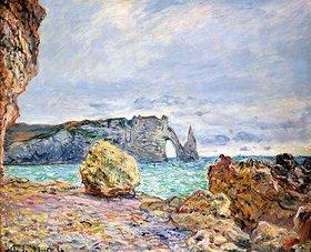Claude Monet: Etretat, Strand und Falaise d'Aval