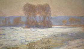Claude Monet: Die Seine bei Bennecourt im Winter