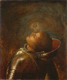 George Frederick Watts: Der glückliche Krieger. 1893 auf der Münchner Jahresausstellung im Glaspalast vom Künstler erworben