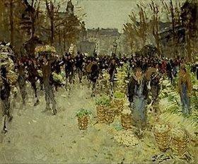 Pierre-Eugene Montézin: Gemüsemarkt bei Les Halles, Paris