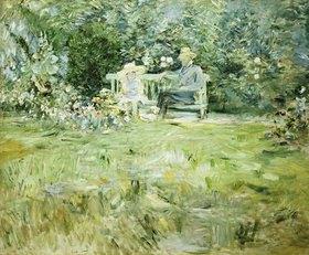 Berthe Morisot: Grossvater und Kind auf der Gartenbank