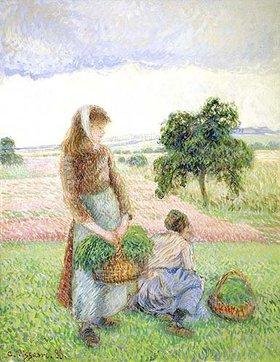 Camille Pissarro: Bäuerinnen mit Körben