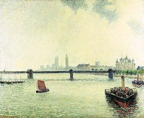 Camille Pissarro: Die Charing-Cross-Brücke in London