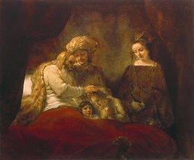 Rembrandt van Rijn: Jakob segnet die Söhne Josephs