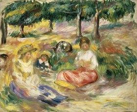 Auguste Renoir: Drei junge Frauen im Grünen