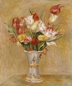 Auguste Renoir: Tulpenstrauss in weisser Vase