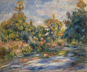 Auguste Renoir: Landschaft mit Fluss