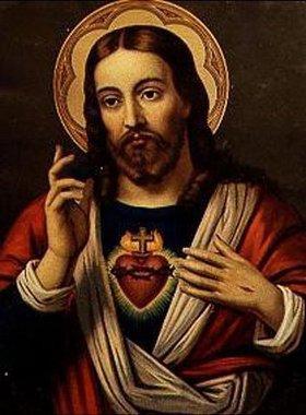 Anonym: Herz-Jesu-Bild. 19.Jahrhundert