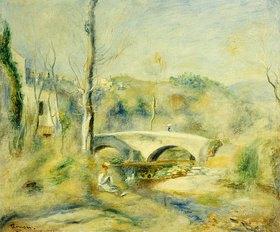 Auguste Renoir: Landschaft mit Brücke