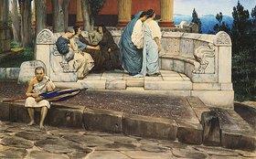 Sir Lawrence Alma-Tadema: Exedra, Rundbank an einem römischen Haus