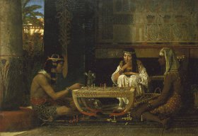 Sir Lawrence Alma-Tadema: Ägyptisches Paar beim Brettspiel