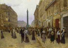 Jean Béraud: Abends auf der Rue de la Paix