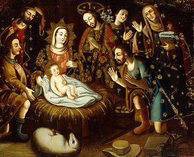 Gaspar Miguel de Berrio: Die Anbetung der Hirten