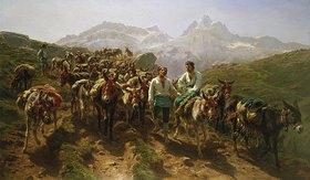 Rosa Bonheur: Maultiere beim Überqueren der Pyrenäen