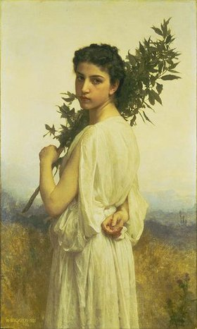 William Adolphe Bouguereau: Nymphe mit Lorbeerzweig