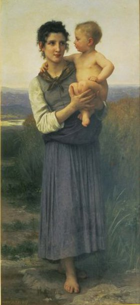 William Adolphe Bouguereau: Mutter mit Kind auf dem Arm