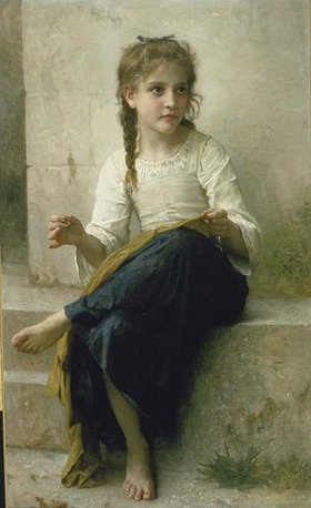 William Adolphe Bouguereau: Kleine Näherin