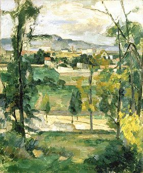 Paul Cézanne: Dorflandschaft in der Ile de France