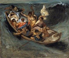 Eugene Delacroix: Christus im Sturm auf dem Meer