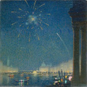 David Ericson: Feuerwerk beim Karneval in Venedig