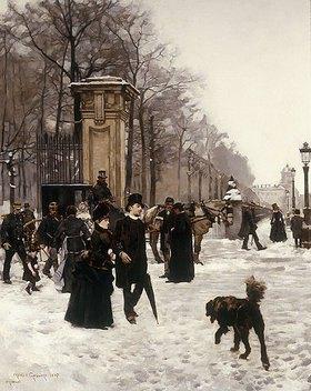 Franz Gailliard: Spaziergang im winterlichen Brüssel