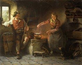 Hugo Kauffmann: Kleiner Schwatz in der Küche