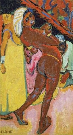 Ernst Ludwig Kirchner: Schwarze Tänzerin