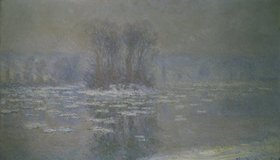 Claude Monet: Vereister Fluss bei Bennecourt