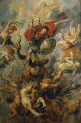 Peter Paul Rubens: Der Engelsturz. Erzengel Michael im Kampf gegen die abtrünnigen Engel