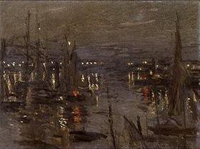 Claude Monet: Abendstimmung im Hafen von Le Havre