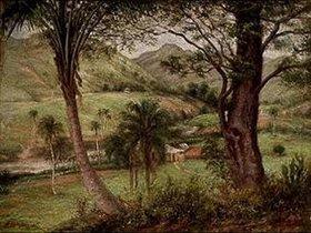 Francisco Oller y Cestero: Berglandschaft von Guaraguao (Puerto Rico)