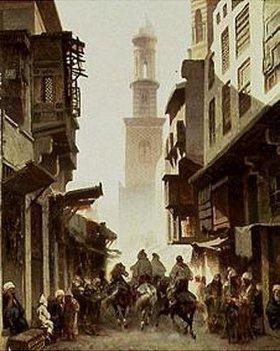 Alberto Pasini: Strassen-Szene in Damaskus