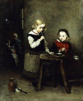 Théodule Augustin Ribot: Kinder beim Seifenblasenspiel