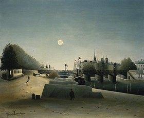Henri Rousseau: Blick vom Port Saint-Nicolas zur Ile Saint-Louis im Abendlicht