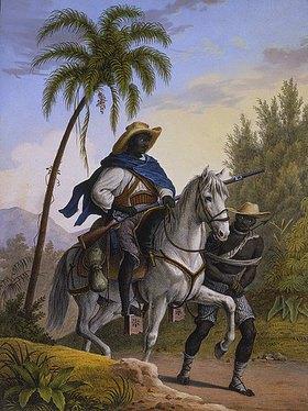 Johann Moritz Rugendas: Waldhüter mit einem Gefangenen. Aus: 'Voyage Pittoresque Dans Le Bresil'
