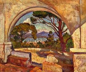 Theo van Rysselberghe: Blick von der Kapelle Saint-Anne auf Saint-Tropez