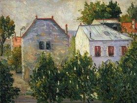 Paul Signac: Häuser und Gärten am Stadtrand von Asnières