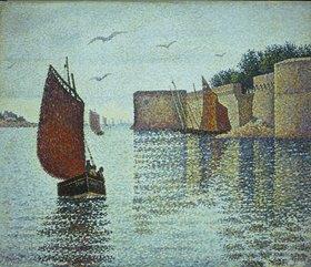 Paul Signac: Stadtmauer am Hafen von Concarneau